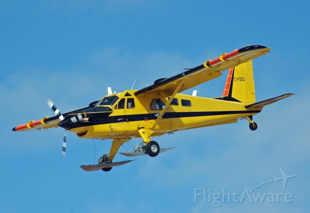 De Havilland Canada DHC-2 Mk1 Beaver (C-FOEU) - 1967 De Havilland DHC-2 Mk III/Turbo Beaver (C-FOEU/1678TB46) on final approach at CYPQ on March 2, 2021. This aircraft is operated by the Ministry of Natural Resources (Ontario).