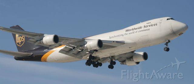 Boeing 747-400 (N581UP) - 35L 3/13/11