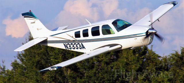 Beechcraft Bonanza (36) (N3333A) - FLY-BY AT WAUCHULA FL