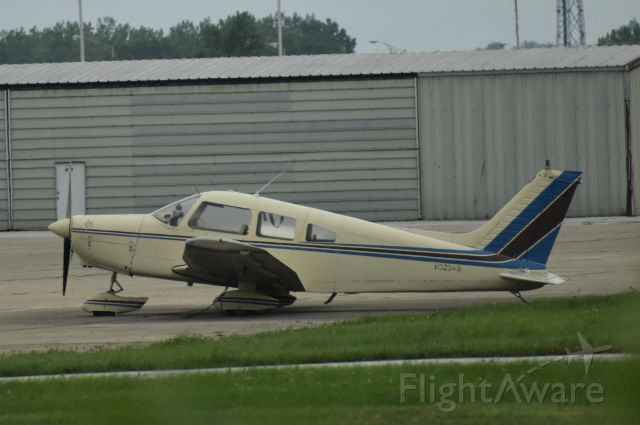 Piper Cherokee (N32543) - I was driving past the airport and just say this plane sitting there.