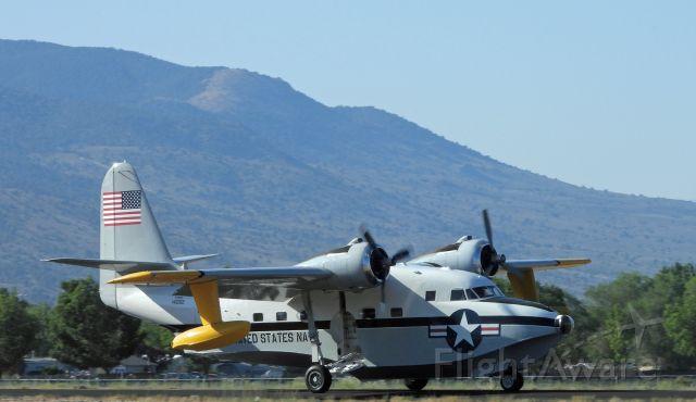 Grumman HU-16 Albatross (N7025N) - Toughing down on 27 at Carson City, NV, USA