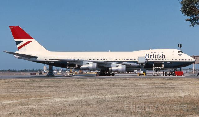 BOEING 747-100 (G-AWNN) - Adelaide, South Australia, November 16, 1984. Comparison shot to the landing pic in later BA livery.