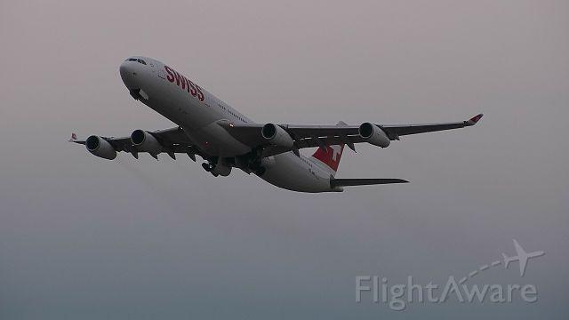 Airbus A340-300 (HB-JMC) - 13/12/17 LX160 to Tokyo NRT