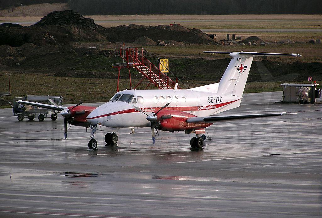 Beechcraft Super King Air 200 (SE-IXC) - Beech B200 Super King Air - SOS Flygambulans