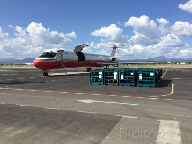 McDonnell Douglas MD-83 (XA-UZI) - Delivering some automotive cargo...