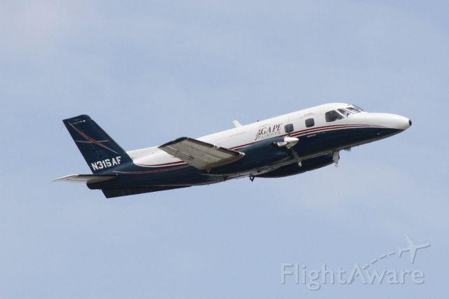 Embraer EMB-110 Bandeirante (N316AF) - Agape Flights N316AF departs Runway 14 at Sarasota-Bradenton International Airport
