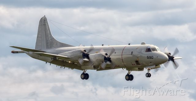 Lockheed P-3 Orion (16-1590) - Manufacturer:Lockheed<br />Model:  Lockheed P-3C Orion<br />Year built:1983<br />Construction Number (C/N):285A-5763<br />Aircraft Type:Fixed wing multi engine<br />Number of Seats:11<br />Number of Engines:4<br />Engine Type:Turbo-prop<br />Engine Manufacturer and Model:Allison T56-A-14
