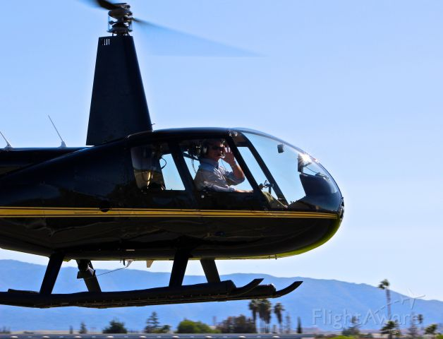 Robinson R-44 (N220GG) - Local R-44 taxing out for departure at RHV. Thanks for the wave!