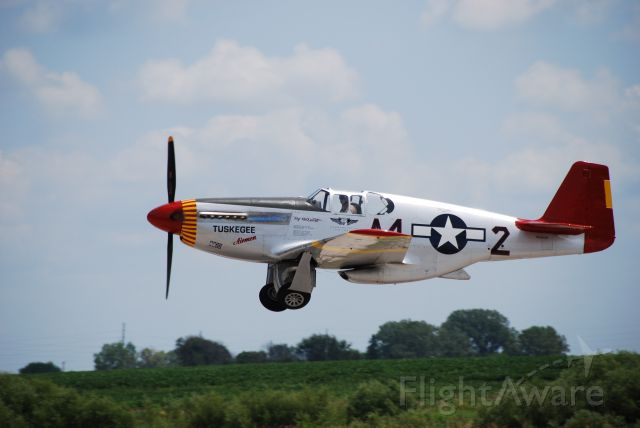SAI61429 — - The P-51C just taking off for his routine at Fly Iowa 2019.