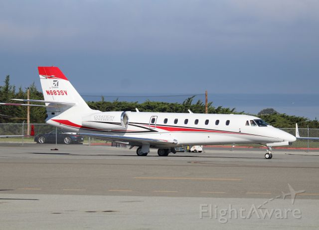 Cessna Citation Sovereign (N683SV) - KMRY - ATT Pro Am 2015 Monday departures from the Monterey Jet Center
