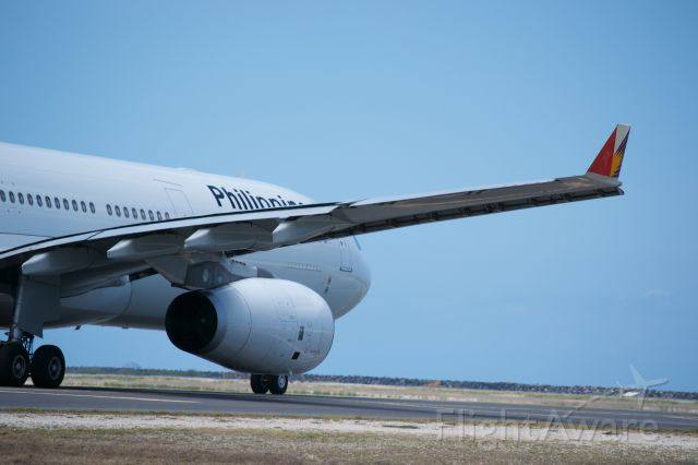 — — - Philipenes A330 taxing out to 8R for a long flight to Manila.
