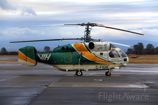 KAMOV Ka-32 (C-FIGR) - KRDD 6/16/16, I should have called in sick to work, but this rare sighting of a KA-32 at Redding - I would have loved to have gotten video of this Russian built helicopter - FA shows it transitioned KEUG - and on to Victoria BC today. Ive never seen a helicopter like this. Click full.