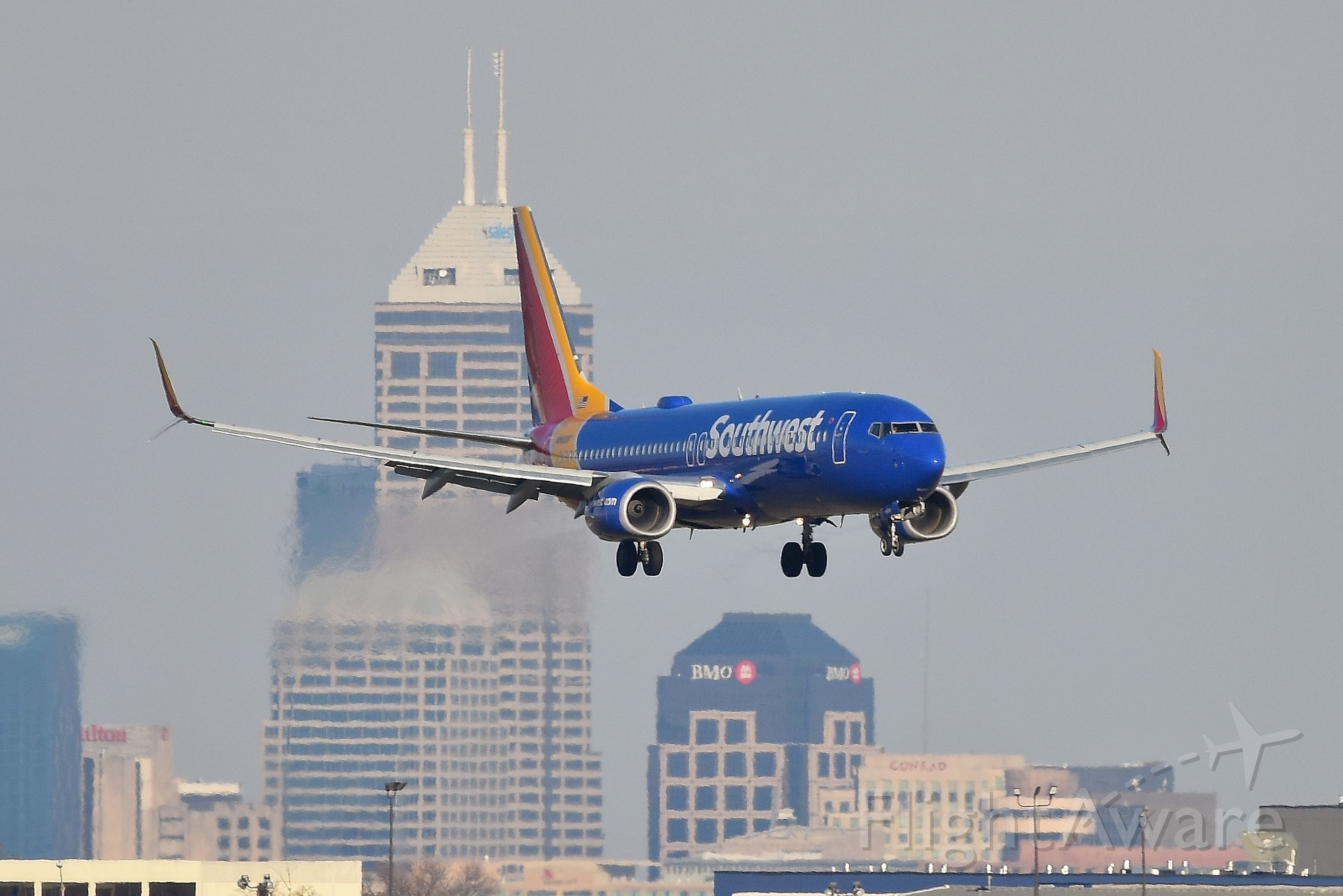 Boeing 737-800 (N8600F) - On final for 23-L. Shot on 11-09-19