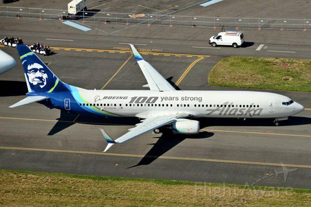 Boeing 737-900 (N248AK) - Boeing 100 Years Founders Day display