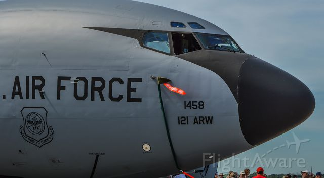 Boeing C-135FR Stratotanker (59-1458) - A KC-135R from the 121st ARW based at KLCK on static at the Dayton Air Show.