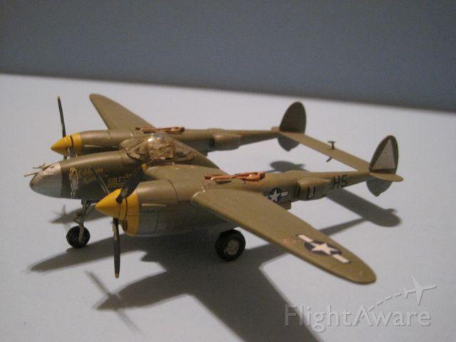 — — - Lockheed P-38 Lightning