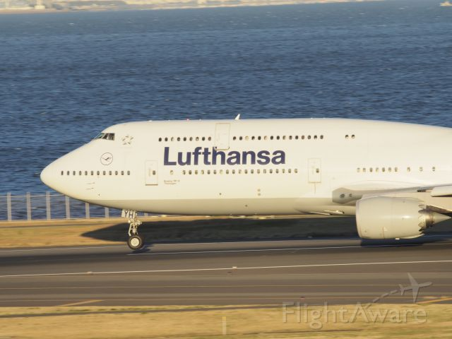 Boeing 747-200 (D-ABYH) - Taking-off from 34R