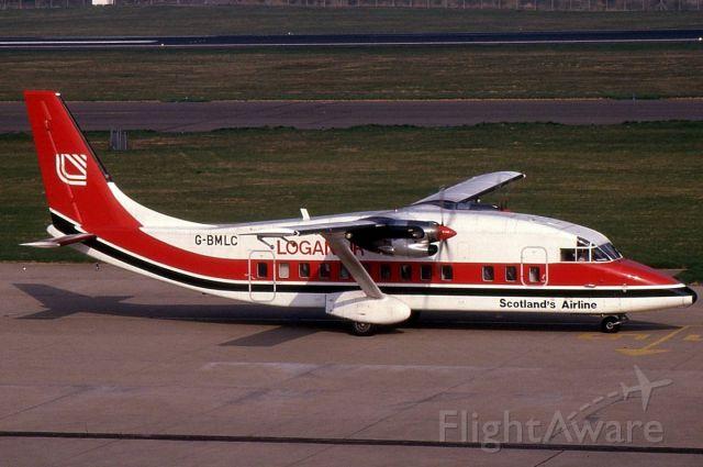 Short SD3-60 (G-BMLC) - Photo taken at Edinburgh in April 1988.