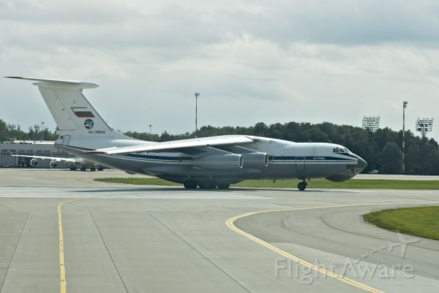 Ilyushin Il-76 (RA-78845) - From Airline Cockpit, standing by before active runway, for take off.