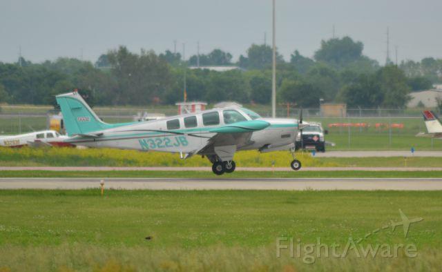 Beechcraft Bonanza (36) (N322JB) - N322JB returning to Runway 15 in Sioux Falls SD on 6-12-15 after test flight
