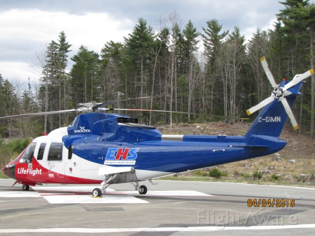 C-GIMN — - Parked on Helipad at Hospital in Bridgewater NS.     April 24/10
