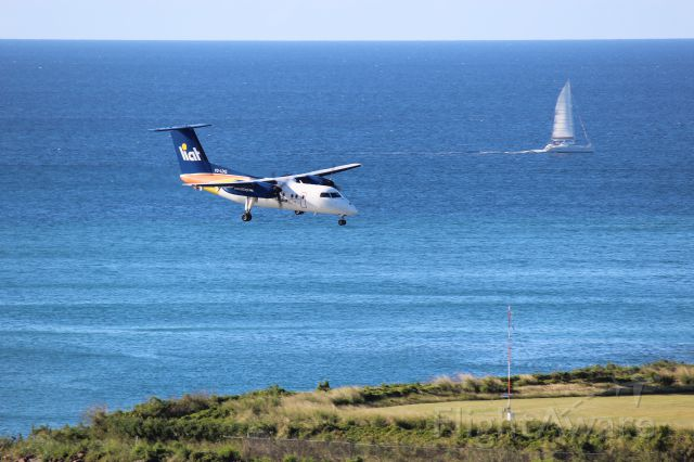 V2-LDQ — - An Liat Cargo Dash-8 landing at George F. L. Charles Airport, Castries St Lucia, West Indies