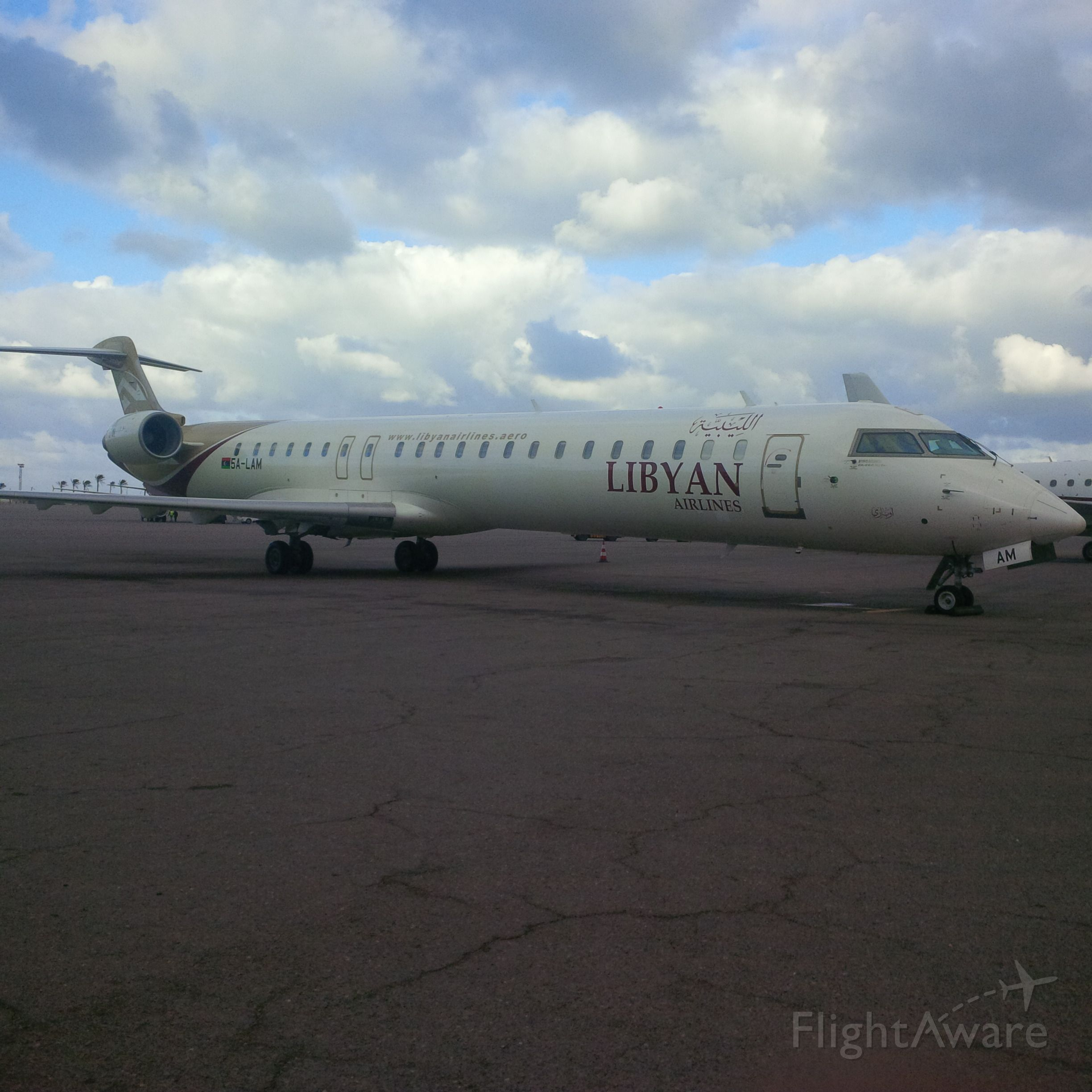 Canadair Regional Jet CRJ-900 (5A-LAM) - Libyan Airlines <br />CNS/ATM Unit <br />ICT Department