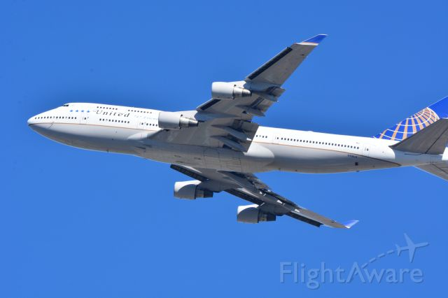 Boeing 747-400 (N118UA) - Last United 747 to fly in revenue service from SFO to HNL leaving at about noon 11/7/2017