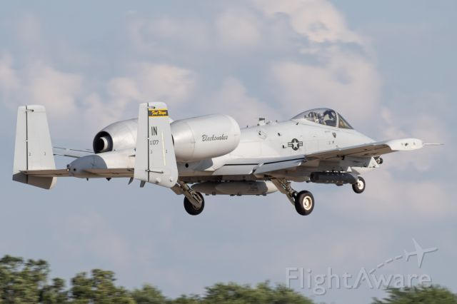 Fairchild-Republic Thunderbolt 2 (80-0177) - The Indiana Air National Guard's A-10 Thunderbolt II departing at EAA Airventure 2019.