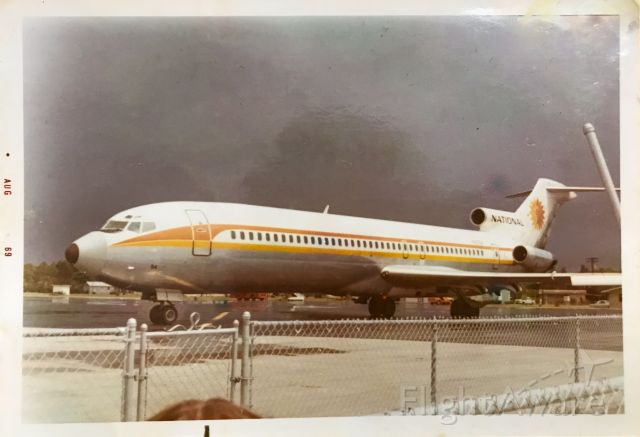 N4754 — - A National Airlines 727-200 at the original Fort Myers, FL airport.  Taken by my grandparents in August of 1969.