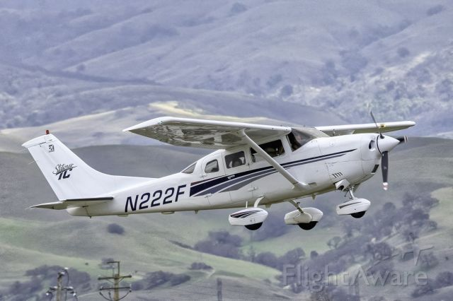Cessna 206 Stationair (N222F) - Cessna T206H Stationair TC over Livermore Municipal Airport (CA). February 2021