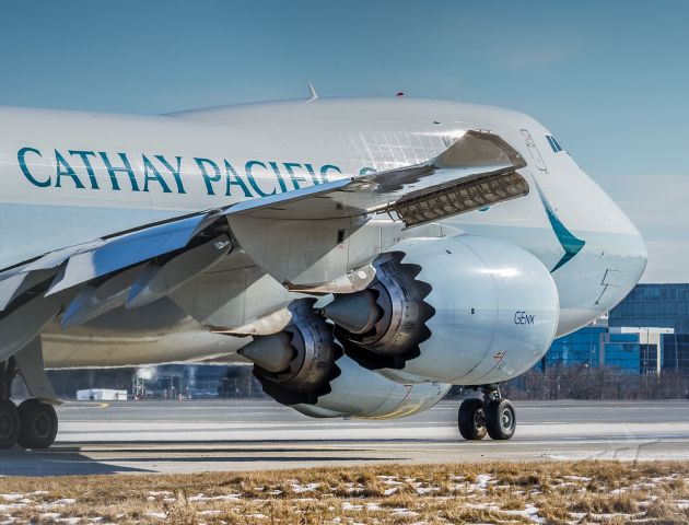 BOEING 747-8 (B-LJF) - This Cathay Cargo 748 lines up on 06L bound for Anchorage