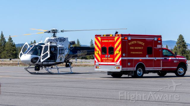 Eurocopter AS-350 AStar (N978HP) - CHP Valley Division's AS50 with North Tahoe Fire's Medic 52 during a medical transfer