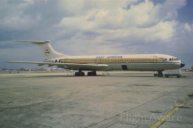 VICKERS VC-10 (5Y-ADA) - SCANNED FROM POSTCARDbr /EAST AFRICAN
