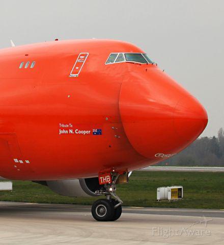 Boeing 747-400 (OO-THB) - BIG SMILE!