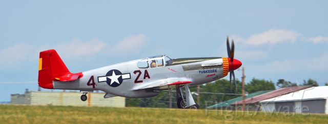 North American P-51 Mustang (AMU61429) - Tuskegee Airmen P-51 C Taking off from Flying cloud Airport in Minnesota.