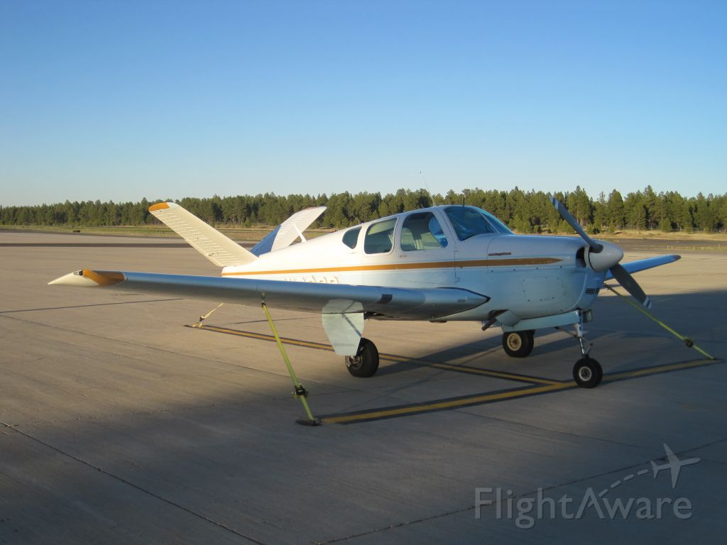 Beechcraft 35 Bonanza (N1866D) - Taken on June 4, 2011. Evening sunset in Flagstaff right before we fly back to Tucson.