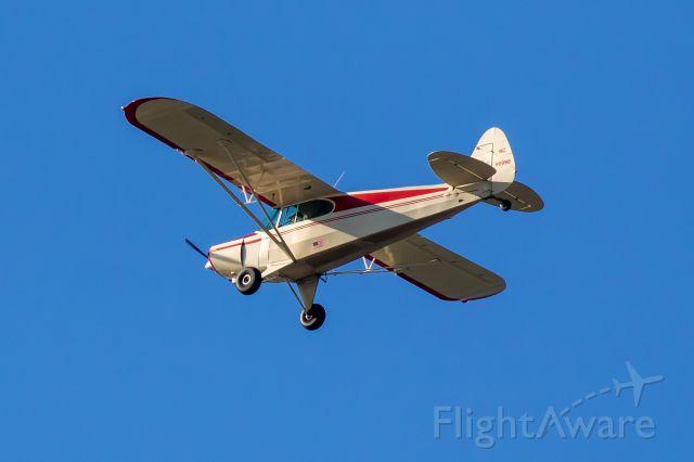 Piper PA-12 Super Cruiser (N98999) - Tierra Verde, FL<br />Flying over Little Bird Key<br />3/29/2020
