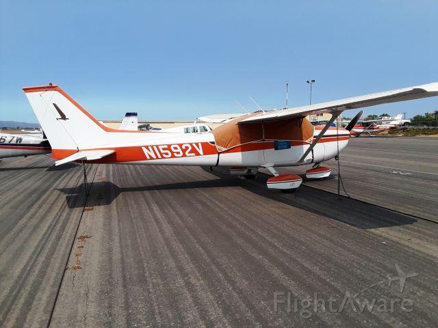 Cessna Skyhawk (N1592V) - Parked at Santa Ynez