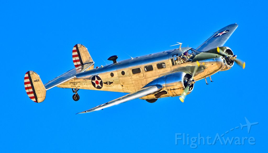 Beechcraft 18 (N145AZ) - N145AZ  Beech D18S C/N A-235 - Las Vegas - Nellis AFB (LSV / KLSV)br /Aviation Nation 2014 Air Showbr /USA - Nevada, November 8, 2014br /Photo: TDelCoro