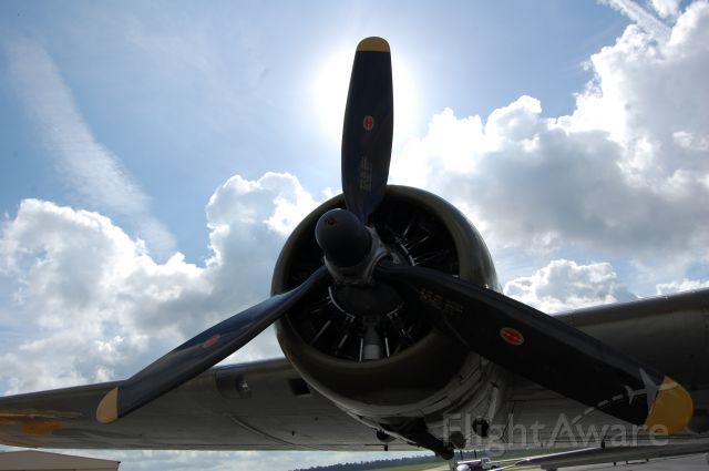 Boeing B-17 Flying Fortress (N900RW) - Parked at the Galaxy FBO at CXO, getting radio work.