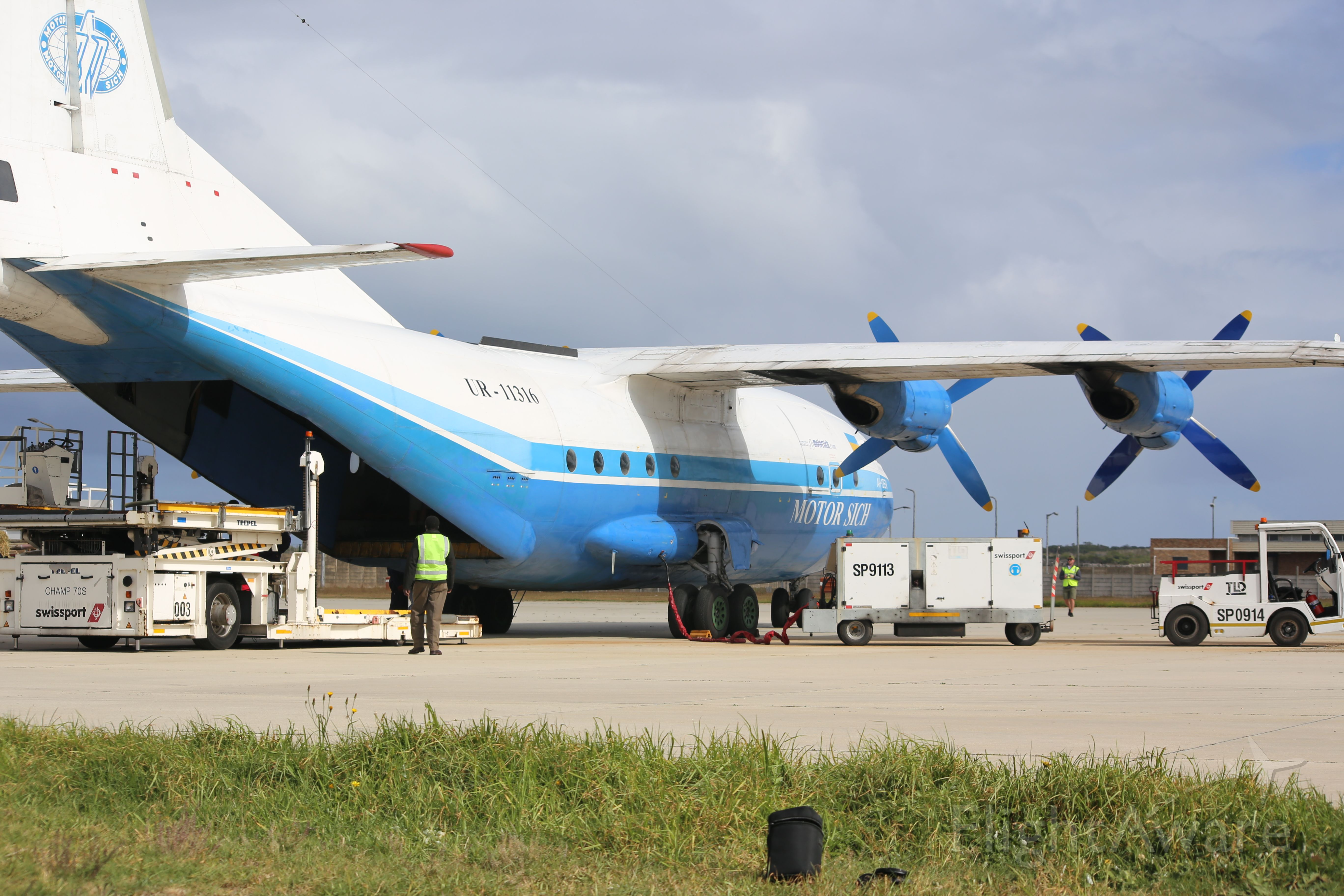 Antonov An-12 (UR-11316) - A special visitor to our small local airport today, Thursday 3 May 2018. Arrived to come collect a very special cargo, dear to the hearts of all South Africans.