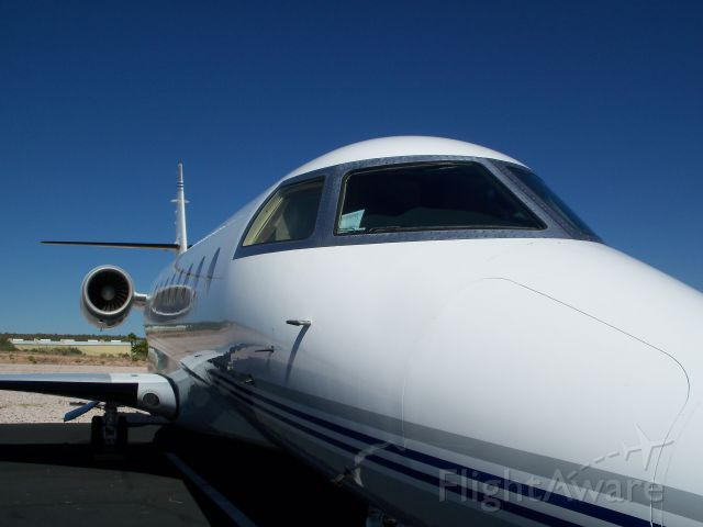 IAI Gulfstream G200 (N415PR) - note the reflection on the jet...
