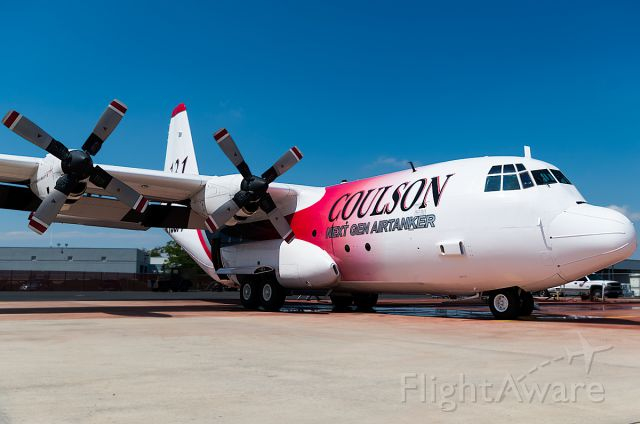 Lockheed C-130 Hercules (N130FF) - Coulson Flying Air Tanker Siting on the BOi Fire Ramp last summer! I got to get all up-close and personal with this one and the MAFF C130! Thanks NIFC!