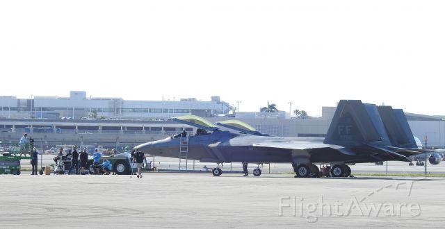 Lockheed F-22 Raptor (AFR08156) - 08-4156 before Ft Lauderdale Airshow 11-19-2020