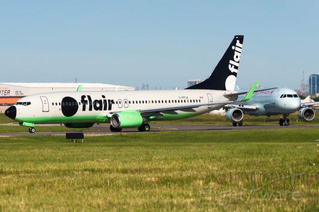 Boeing 737-800 (C-FFLA) - Morning line up. Jun 2019