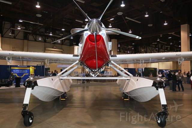 AIR TRACTOR Fire Boss (N804AS) - An Air Tractor AT-802F Fire Boss scooper air tanker (N804AS), powered by a Pratt and Whitney PT6A-67F turboprop, is seen here on display at the 2018 National Agriculture Aviation Association (NAAA) Exposition in the Reno Sparks Convention Center. The amphibious floats are made by Wipaire.