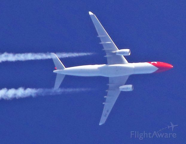 Airbus A330-300 (HB-JHQ) - LIAISON PUNTA CANA - ZURICH VERTICAL COTES VENDEE 40 000 FT LE 17-04-2014