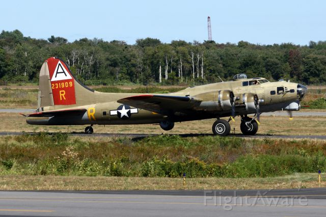 Boeing B-17 Flying Fortress (SAI93012) - The Collings Foundations B-17G Flying Fortress  Nine-O-Nine arriving in Norwood for the Wings of Freedom Tour