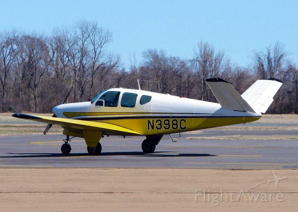 Beechcraft 35 Bonanza (N398C) - At Downtown Shreveport.